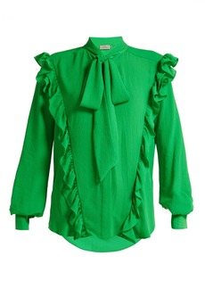 Preen By Thornton Bregazzi Billy ruffled crepe blouse