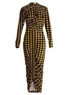 Preen By Thornton Bregazzi Christy gingham velvet dress
