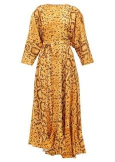 Preen By Thornton Bregazzi Claudia snake-print midi dress