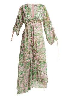 Preen By Thornton Bregazzi Cleo silk-blend midi dress