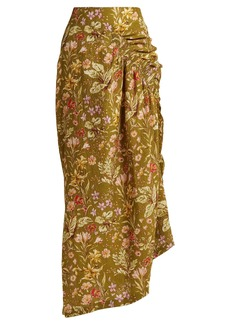 Preen By Thornton Bregazzi Constance silk-blend midi skirt