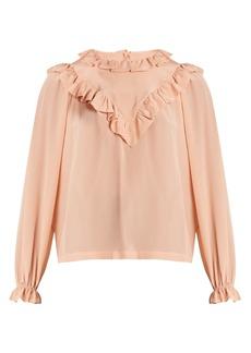 Preen By Thornton Bregazzi Dale ruffle-trimmed silk blouse