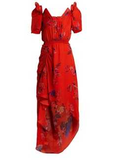 Preen By Thornton Bregazzi Dana floral-print silk-jacquard dress