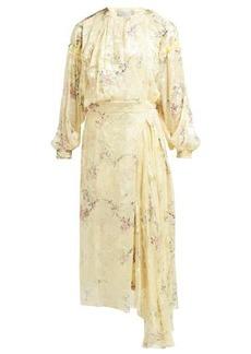 Preen By Thornton Bregazzi Doreen floral-devoré silk-blend dress