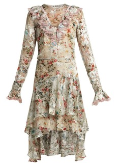 Preen By Thornton Bregazzi Doris floral-print silk-blend devoré dress