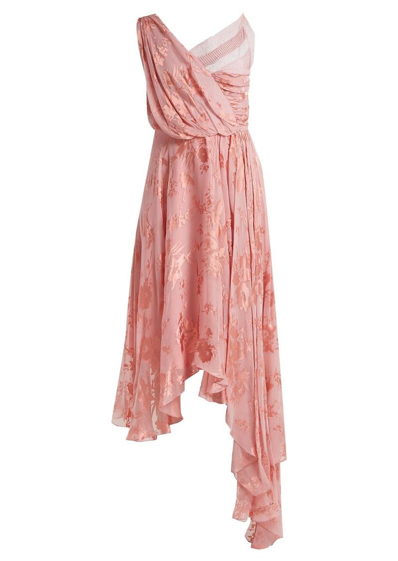 Preen By Thornton Bregazzi Eleonora lace-insert floral-devoré dress