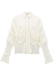 Preen By Thornton Bregazzi Elliana shirred lace shirt