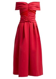 Preen By Thornton Bregazzi Ellie off-the-shoulder satin dress