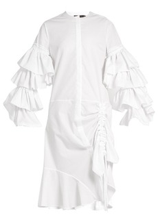 Preen By Thornton Bregazzi Ellie ruched cotton dress