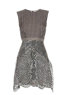 Preen By Thornton Bregazzi Ellie silk-georgette gingham dress