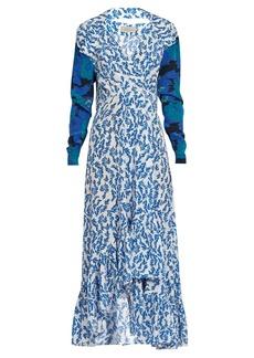 Preen By Thornton Bregazzi Elta V-neck floral-print silk dress
