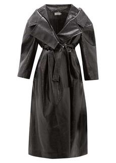 Preen By Thornton Bregazzi Ensley oversized PVC trench coat