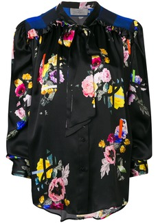 Preen Even bow tie floral blouse