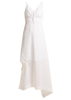 Preen By Thornton Bregazzi Felicity cut-out linen dress