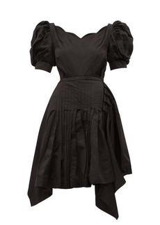 Preen By Thornton Bregazzi Felixa scalloped silk-charmeuse dress