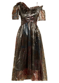 Preen By Thornton Bregazzi Gena snake-print organza dress
