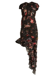 Preen By Thornton Bregazzi Ginny gathered silk-blend chiffon dress