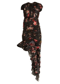 Preen By Thornton Bregazzi Ginny gathered silk-blend chiffon dress