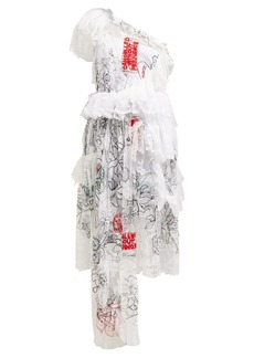 Preen By Thornton Bregazzi Giselle asymmetric embroidered-tulle dress