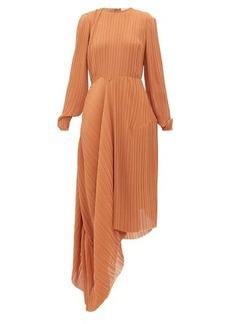Preen By Thornton Bregazzi Glenda pleated asymmetric-hem georgette dress