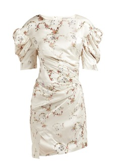Preen By Thornton Bregazzi Greta floral-print puff-sleeve satin dress