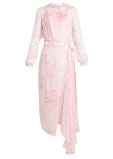 Preen By Thornton Bregazzi Harlow silk-blend devoré wrap dress