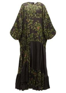 Preen By Thornton Bregazzi Harper leaf-print satin maxi dress