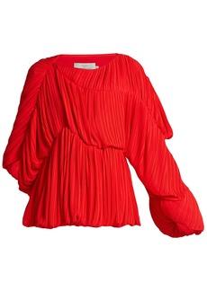 Preen By Thornton Bregazzi Heather pleated georgette blouse
