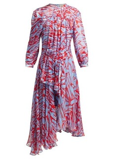 Preen By Thornton Bregazzi Helen asymmetric-hem silk-blend dress