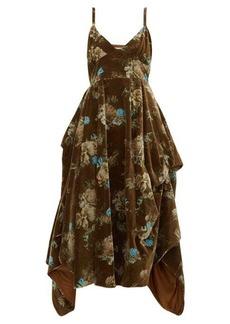 Preen By Thornton Bregazzi Ibbie floral-print velvet dress