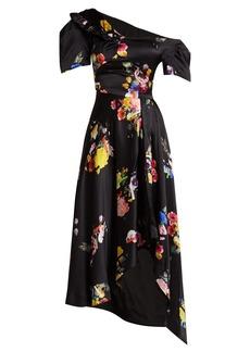 Preen By Thornton Bregazzi Irene off-the-shoulder silk dress