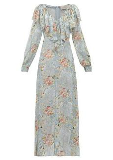 Preen By Thornton Bregazzi Iris floral devoré-velvet dress