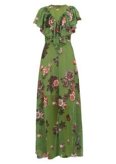 Preen By Thornton Bregazzi Irisa gathered floral-print georgette maxi dress
