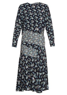 Preen By Thornton Bregazzi Jana Carnation-print long-sleeved dress