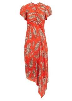 Preen By Thornton Bregazzi Jane floral-print plissé-chiffon dress