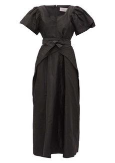Preen By Thornton Bregazzi Jayda wrap-waist silk-taffeta dress