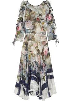 Preen by Thornton Bregazzi Jenna floral-print devoré silk-blend chiffon midi dress