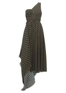 Preen By Thornton Bregazzi Jerica geometric-print pleated-chiffon dress