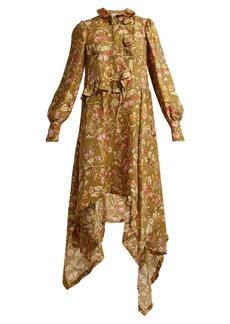 Preen By Thornton Bregazzi Joan garden floral-print silk maxi dress