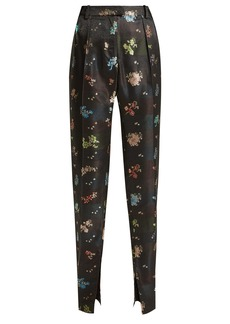 Preen By Thornton Bregazzi Juno floral-jacquard straight-leg trousers