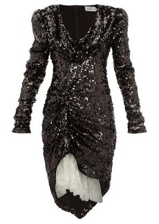 Preen By Thornton Bregazzi Karin cowl-neck sequinned dress