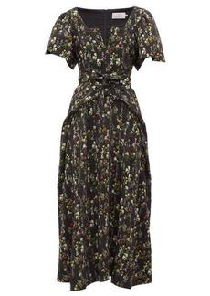 Preen By Thornton Bregazzi Katarina waist-tie floral-print crepe dress