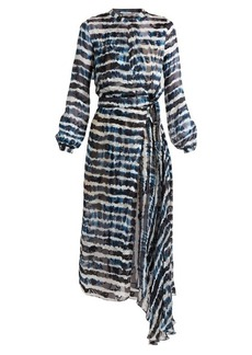 Preen By Thornton Bregazzi Keene tie-dye print silk-blend jacquard dress