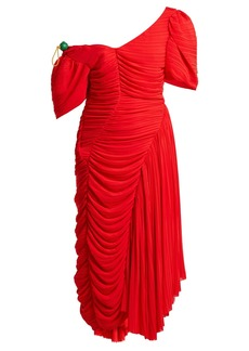 Preen By Thornton Bregazzi Kesia asymmetric georgette dress
