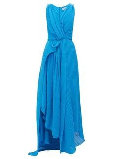 Preen By Thornton Bregazzi Kimberly asymmetric plissé-georgette dress