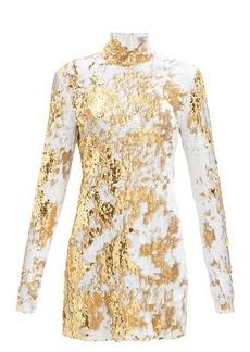 Preen By Thornton Bregazzi Liona high-neck sequinned dress