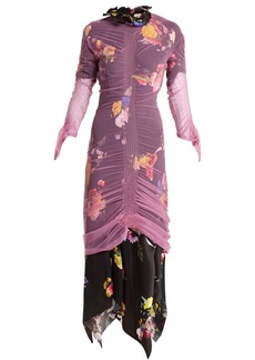 Preen By Thornton Bregazzi Lynn floral-print tulle-overlay dress
