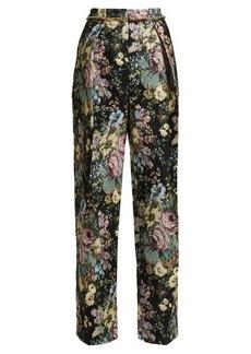 Preen By Thornton Bregazzi Maggie floral jacquard wide-leg trousers