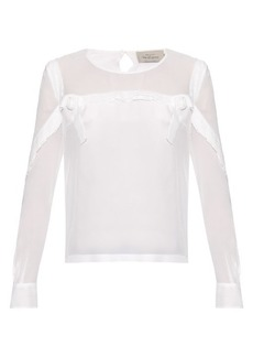 Preen By Thornton Bregazzi Mar silk-georgette blouse