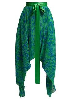 Preen By Thornton Bregazzi Maria pleated georgette midi skirt